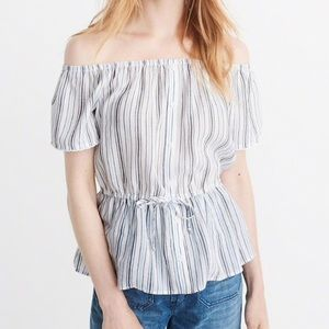 NWT Abercrombie Off the Shoulder Blouse
